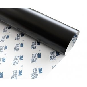 3M FILM COVERING WRAP 3M series 1080 NOIR MAT DEEP PROFOND M22 152x450cm